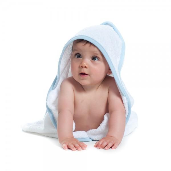Baby Kaputzenhandtuch blau